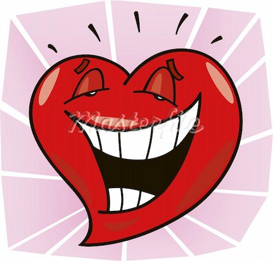 400-04285051 © izakowski Model Release: No Property Release: No cartoon illustration of laughing heart