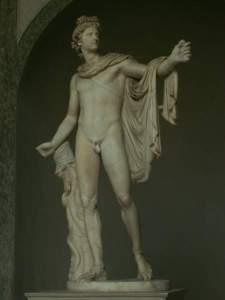 Аполлон Бельведерский - скульптура Леохара (Греция, IV до н.э.)