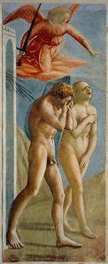 """""""Изгнание из рая"""", фреска Мазаччо (15 в., Флоренция)"""