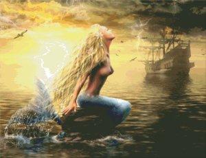Согласна легенде, прекрасные русалки зазывают на риф проплывающие корабли